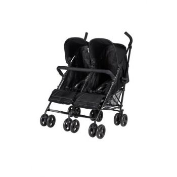 Monart Walking Stick Twin Baby Stroller Black / IB04652
