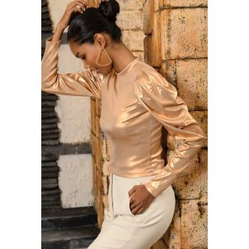 Women's Gold Princess Sleeve Blouse ALC-X3106