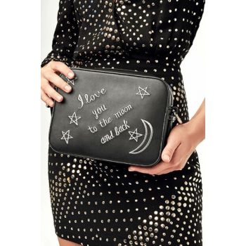 Black Lame Women Bag 03CAH111950A102