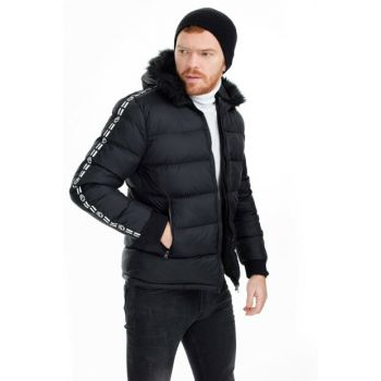 Hooded Slim Fit Inflatable Coat MEN MONT 55618K5029