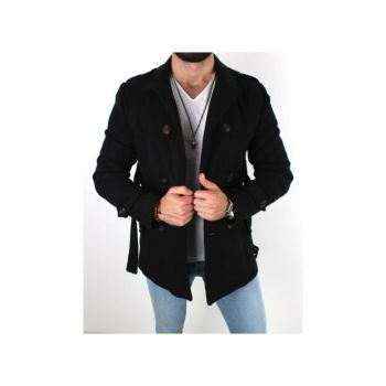 Arched Stamp Coat Black TRND2001
