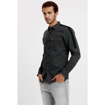 Men's Anthracite Melange Shirt 8W0866Z8