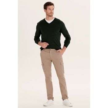 Men's Beige Trousers 9SA977Z8