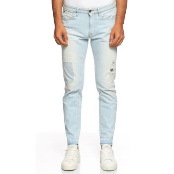 Men's Blue Trousers GU71M72A24D2H30-DENIM