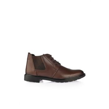 Genuine Leather Coffee Men Boots & Bootie 02BOY162860A480