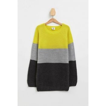 Color Blocked Sweater Pullover L0522A6.19WN.AR102