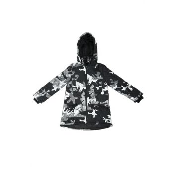 Girls' Quilted Hooded Camouflage Coat 10599-