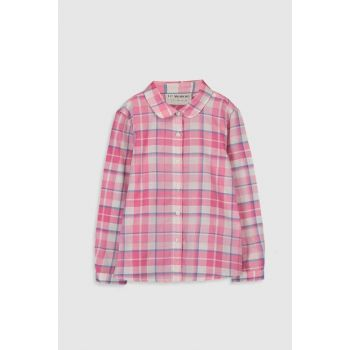 Girls' PINK plaid LNQ shirt 0S4426Z4