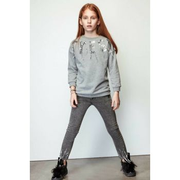 Girls Gray Trousers 19FW2TJ4239