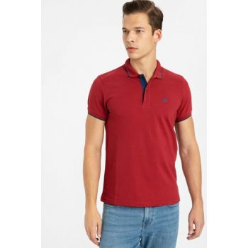 Men's Burgundy T-Shirt 9W0104Z8