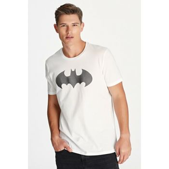 Men's Batman White T-Shirt 065221-620