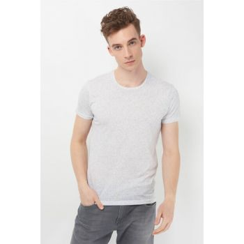 Men's Printed White T-Shirt 065428-620