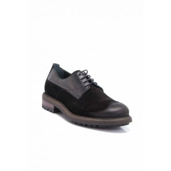 Genuine Leather Black Leather Men Shoes E17S1AY53133