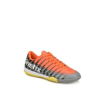 Neon Orange Black Gray Men's Carpet Field Shoes / Crampons 000000000100313414