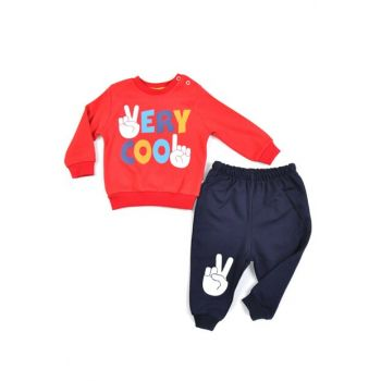 Very Cool Print 2 ip Baby Boy Suit RED MG2025Red