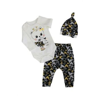 White Hearted Baby Girl Cat 3 Pcs Set AF90303
