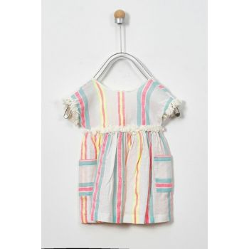 Girls' Casual Dress with Stripes 19126067100