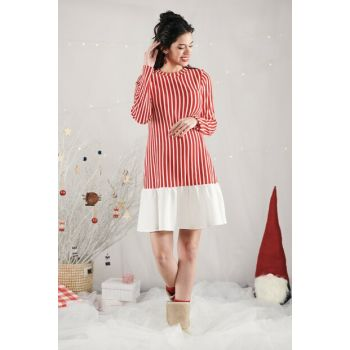 Shir Dress- Red M2338