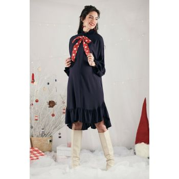 Sharon Dress - Navy Blue M2359