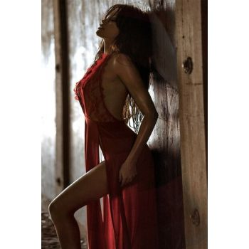 Women's Red Fancy Nightgown GYMX6214