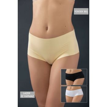 Women's Asorti 3-Piece Laser Cut No-trace Panties 11331