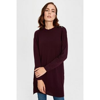 Women's Dark Plum Tunic 9WS580Z8