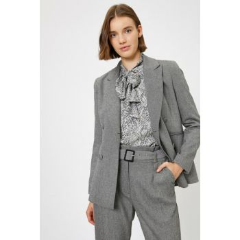 Women's Gray Coat 0KAK52245UW