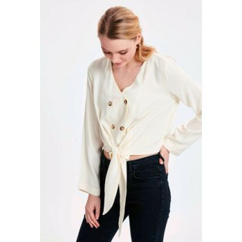 Women's Cream Fdl Blouse 9SK022Z8