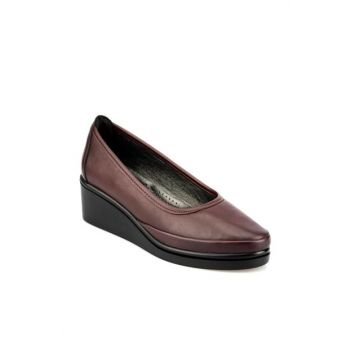 Maroon Women's Wedge Heeled Shoes 92.151038.Z