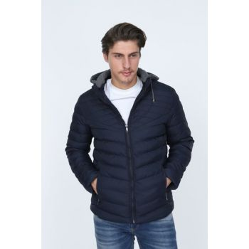 Men's Navy Blue Coat 18K5641