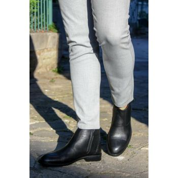 Genuine Leather Black Men Boots 2179321