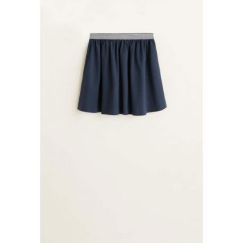 Navy Blue Girls' Metallic Detailed Skirt 53070842