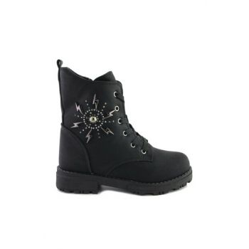 Black Unisex Children Boots 192-5910-001 FT 192-5910FT