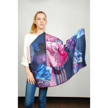 Women Multi Color Sport Polyester Scarf 9351127