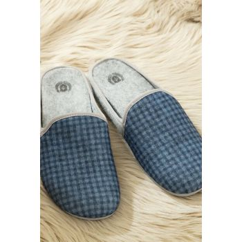 Ponchettes Men's Slipper - Navy Blue 1KTERL0346-8682116140317