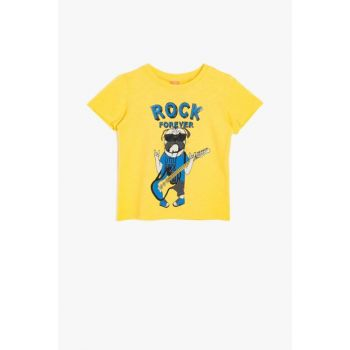 Yellow Unisex Children Written Printed T-Shirt 9YMB16015OK