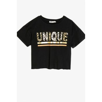 Black Children's T-Shirt 0KKG17136OK
