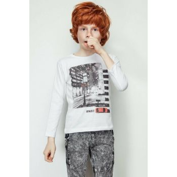 Boys White T-shirt 19FW2NB3541