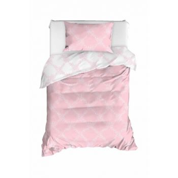 100% Natural Cotton Single Size Duvet Cover Set Nadine Pink Ep-020326