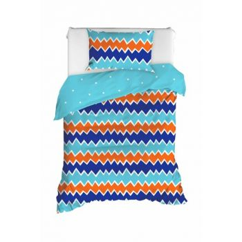 100% Natural Cotton Single Size Duvet Cover Set Zigros Orange Ep-020353