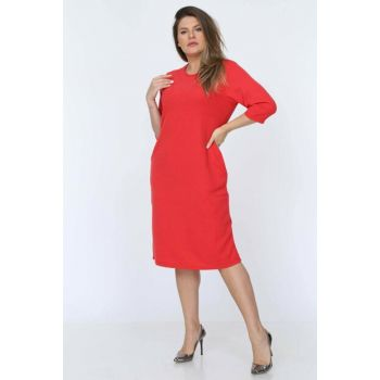 Women's Coral Dress Coral Pockets 17D-0717 10717-17D