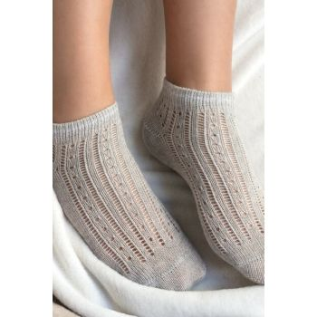 Souffle Booties Socks - Gray 1KCORP0141-8682116111614