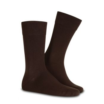 Brown Brown Bamboo Men Socket Socks BRG650