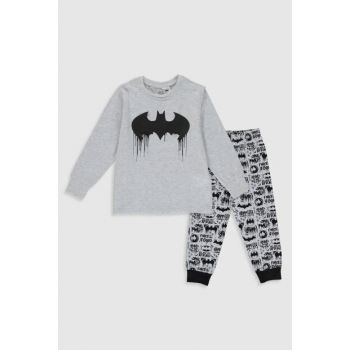 Boys' Black Printed Lqj Pajamas Set 0S2196Z4