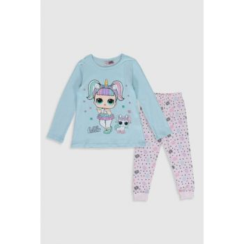 Girls' Light Blue Fwb Pajamas Set 9WR141Z4