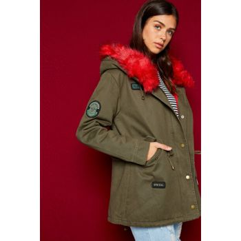 Women's Green Coat 8KAL07277JW