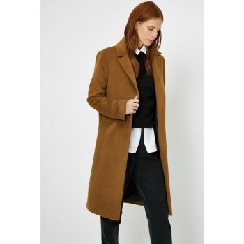 Women's Coffee Pocket Detail Coat 0KAK06658IW