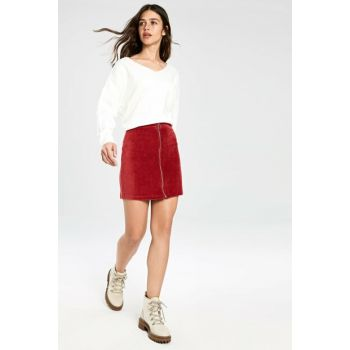 Women's Matte Red Skirt 9WR724Z8