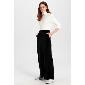 Women's New Black Pants 9WI304Z8