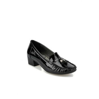 Black Women's Loafer Shoes 92.151058RZ
